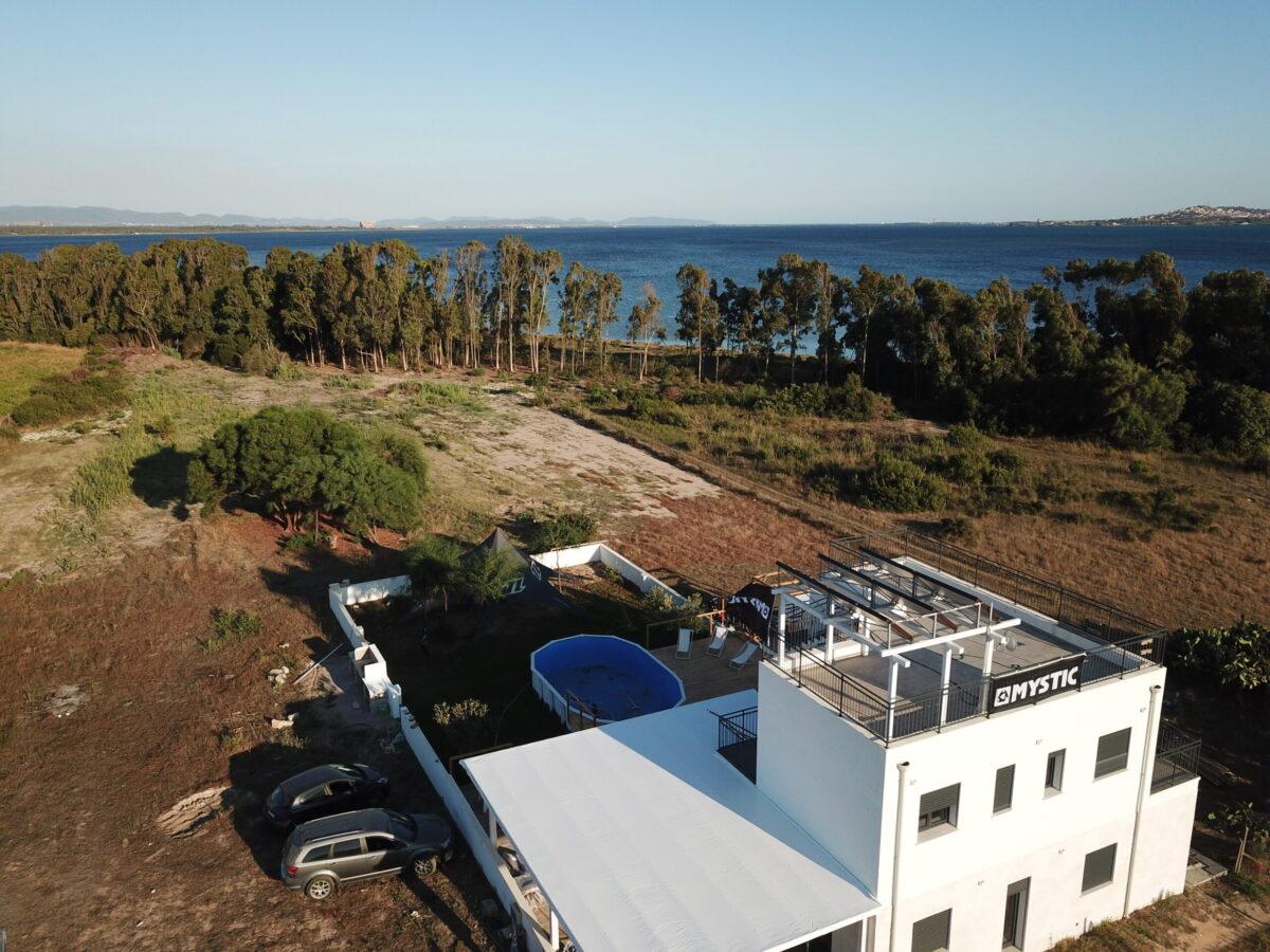 vista dalla Punta Trettu Kite House, la kite house di Punta Trettu