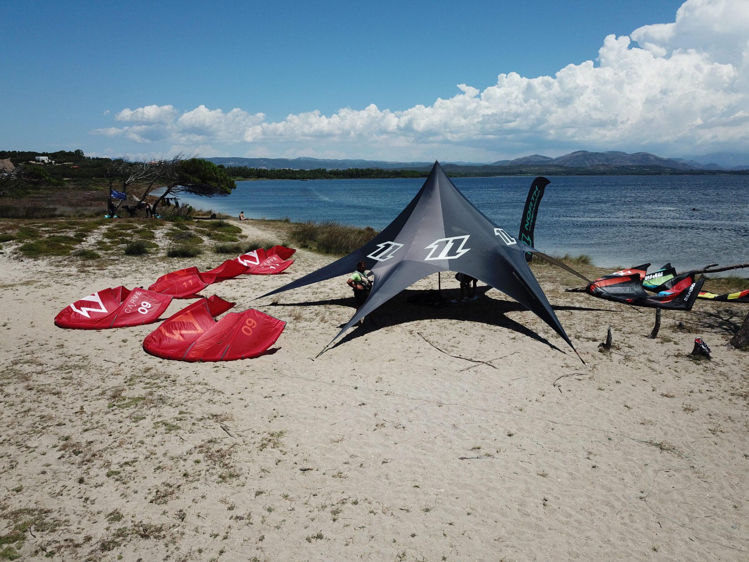 The Kite Beach of Punta Trettu in Sardinia