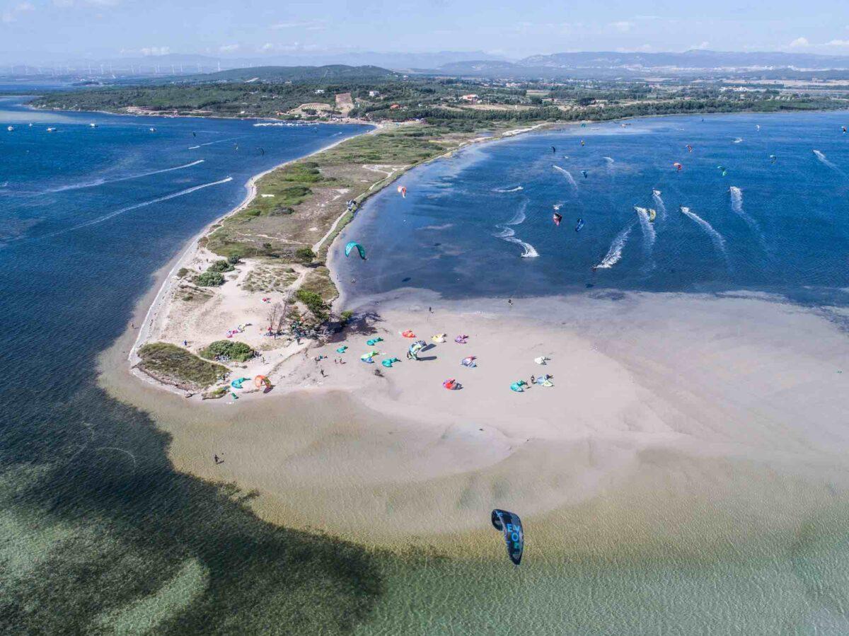 The kite spor of Punta Trettu in Sardinia